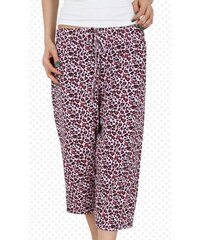 Dámské pyžamové kapri kalhoty Sandra růžová/vínová 1XL