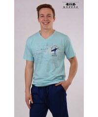 Pánské pyžamo kapri Surfař světle modrá/modrá M