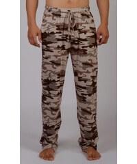 Pánské pyžamové kalhoty Army hnědá M