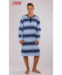 Pánská noční košile s dlouhým rukávem Šimon modrá L