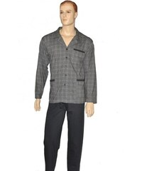 Pánské pyžamo Cornette 114/20 rozpinana M-2XL šedá, L