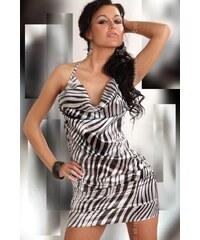 LivCo CORSETTI FASHION Dámské šaty Eliora černá-bílá S