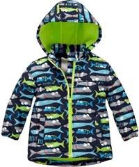 Nickel sportswear Chlapecká softshellová bunda s rybami - barevná