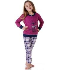 Dívčí pyžamo Cotonella DB248 Rubínová