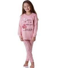 Dívčí pyžamo Cotonella DB241 Lososová