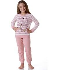 Dívčí pyžamo Cotonella DB242 Lososová