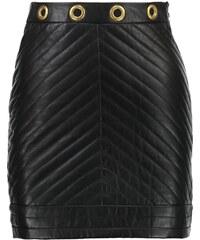 Topshop Jupe en cuir black