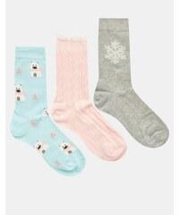 Totes - Lot de 3 paires de chaussettes à motif ours polaire - Multi