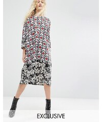 ASOS Made In Kenya - Robe oversize à empiècements variés - Rouge