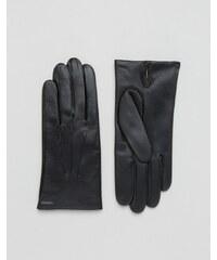 Dents - Bath - Gants en cuir avec doublure en cachemire - Noir