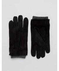 Dents - Hereford - Gants en daim - Noir - Noir