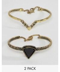 ASOS - Lot de bracelets gravés motif triangle - Multi