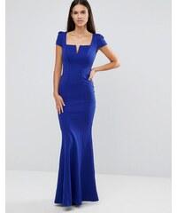 City Goddess - Maxikleid mit überschnittenem Arm und rechteckigem Ausschnitt - Blau