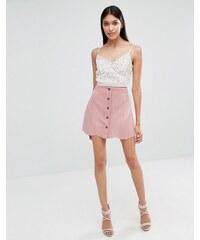 Lipsy - Mini-jupe en suédine - Rose - Rose