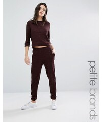 Vero Moda Petite - Pantalon en maille coupe droite - Marron