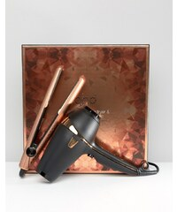 ghd - Copper Luxe Deluxe - Coffret cadeau - Fer à coiffer en V et sèche- cheveux - Clair