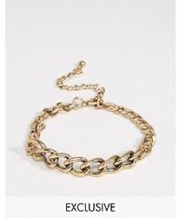 DesignB London - Bracelet chaîne - Doré - Doré