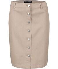 Béžová sukně na knoflíčky Dorothy Perkins