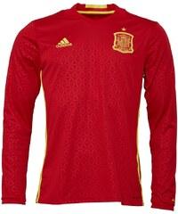 adidas Mens FEF Spain Long Sleeve Home Shirt Scarlet