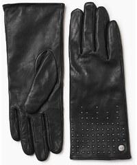 Esprit Gants en cuir d´agneau ornés de rivets