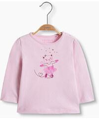 Esprit T-shirt à imprimé brillant, 100 % coton