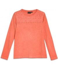 GATO NEGRO Mädchen Langarm Shirt körperbetont rot aus Baumwolle