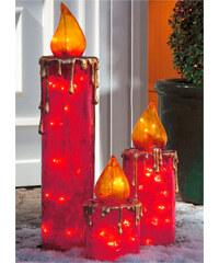 Home Collection Maxi-Kerzen Set, 3-tlg. in rot von bonprix
