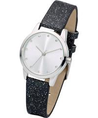 bpc bonprix collection Armbanduhr mit funkelndem Armband in schwarz für Damen von bonprix