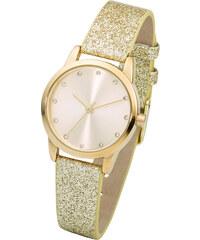 bpc bonprix collection Armbanduhr mit funkelndem Armband in gold für Damen von bonprix