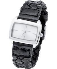 bpc bonprix collection Geflochtene Armbanduhr in schwarz für Damen von bonprix