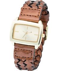 bpc bonprix collection Geflochtene Armbanduhr in braun für Damen von bonprix