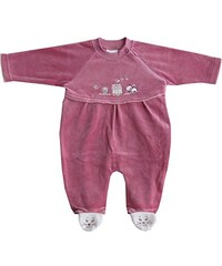 Schnizler Unisex Baby Schlafstrampler Nicki, Schlafanzug, Wagenanzug Katze & Haus