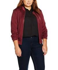 Evans Damen Jacke Red Sheen Zip Bomber