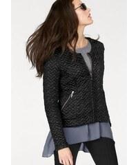 Vivance Collection Damen Steppjacke mit Reißverschlusstaschen schwarz 34,36,38,40,42,44,46