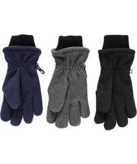 NICKEL SPORTSWEAR Teploučké flísové prstové rukavice s lemem