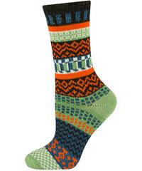 SOXO Dámské zeleno-oranžové ponožky Peru