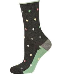 SOXO Dámské tmavě šedo-zelené ponožky Milena