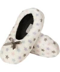 SOXO Dámské smetanové pantofle Warmy