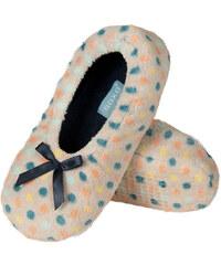 SOXO Dámské béžovo-modré pantofle Warmy