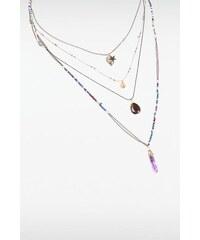 Collier femme multirangs perles Bleu Metal - Femme Taille TU - Bonobo