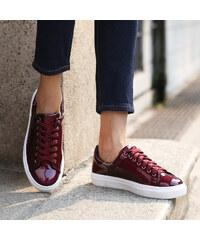 Lesara Sneaker in farbintensiver Lacklederoptik - 35