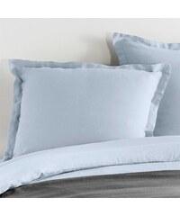 C Design Home Taie d'oreiller en lin - bleu ciel