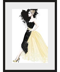 Home affaire, Rahmenbild, »Skizze Dress«, 30/40 cm