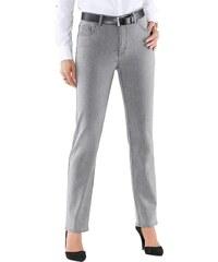 Collection L. Jeans mit schimmernden Metallplättchen