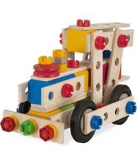 Heros Multifunktionsbausatz für verschiedene Fahrzeuge aus Holz, »Constructor große Lok, 100 tlg.«