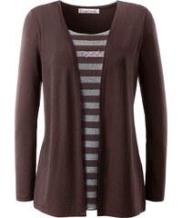 Collection L. 2-in-1-Shirt mit glänzenden Ziersteinchen