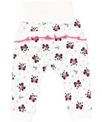 Mamatti Dívčí tepláčky Panda s potiskem - bílé