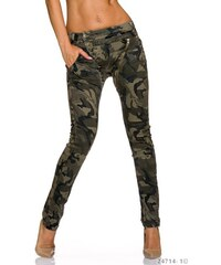 Extravagantní dámské džíny - maskáčové