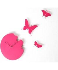 Designové hodiny Diamantini & Domeniconi Butterfly magenta 40cm