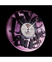 Designové nástěnné hodiny Discoclock 007PB Live, Love, Laugh 30cm